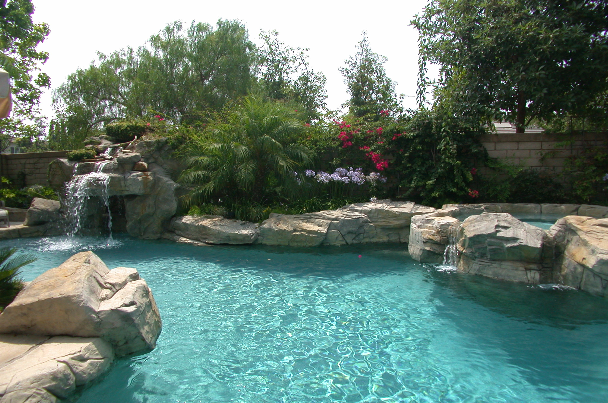Rock Pool Designs Yorba Linda Custom Features Irvine