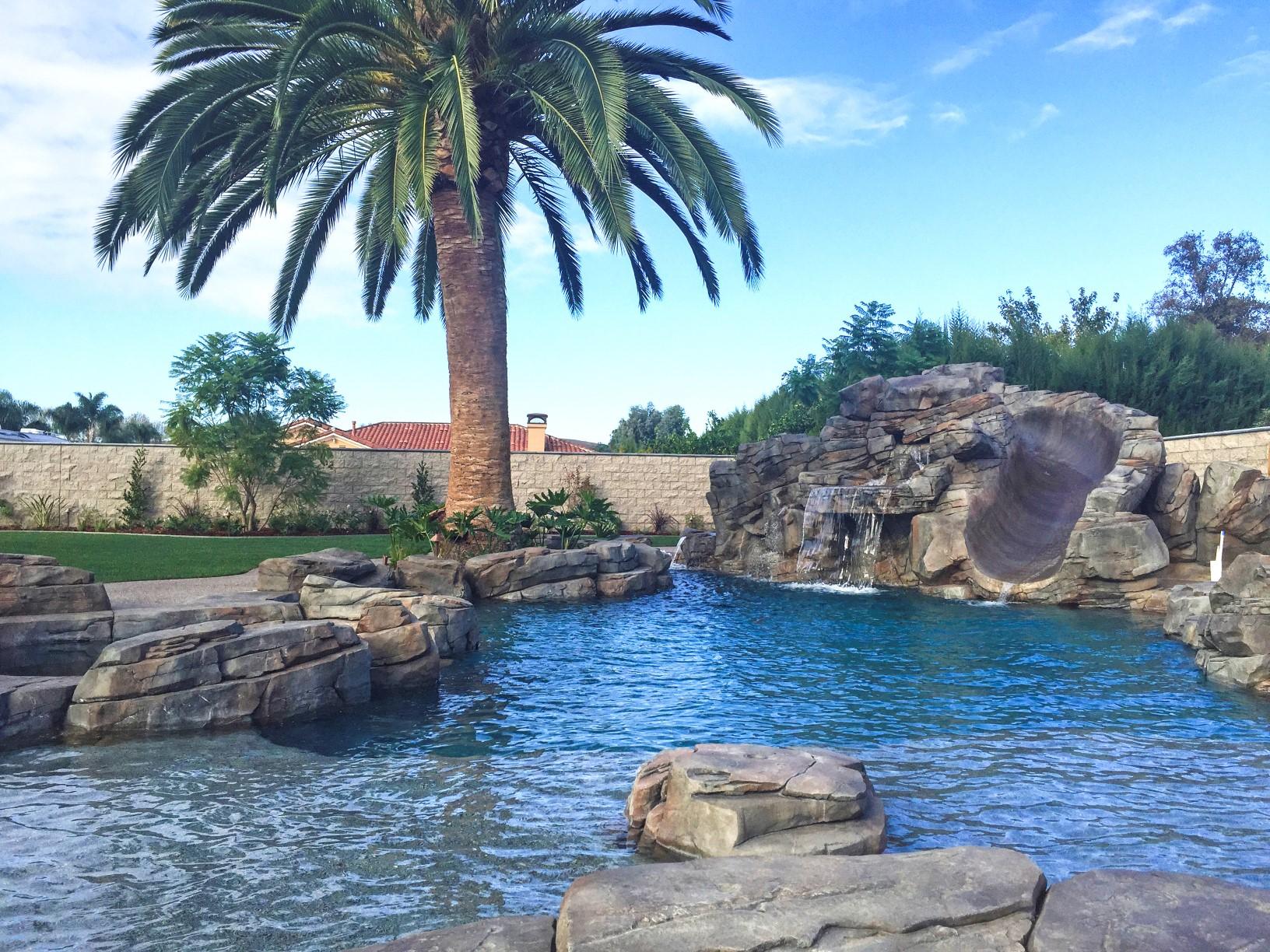 Rock Pool Designs Yorba Linda Custom Features Irvine