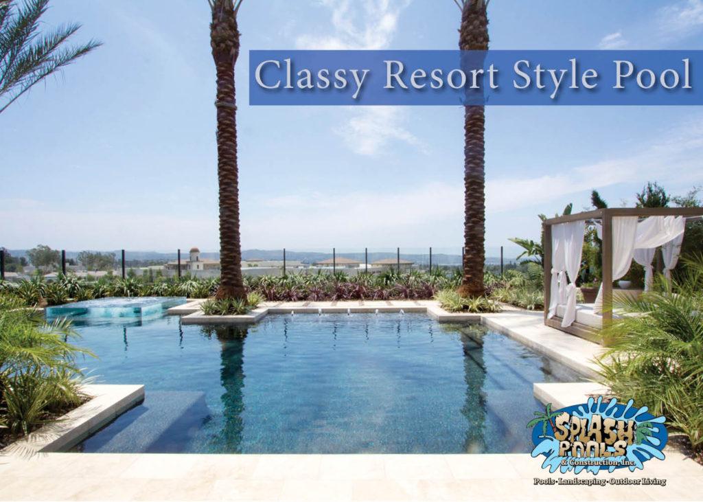 swimming pool designs, resort style pool, yorba linda